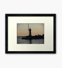Sunset time! Framed Print