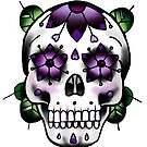 Sugar Skull - Purple by everchangingINK
