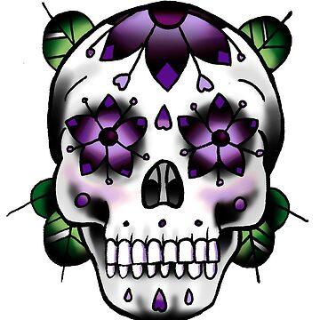 Sugar Skull - Purple by everchangingINK