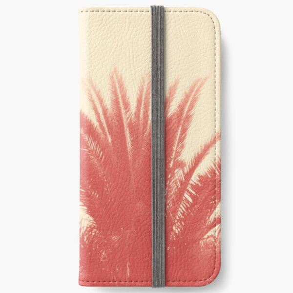 Palm Top Vintage Red iPhone Wallet