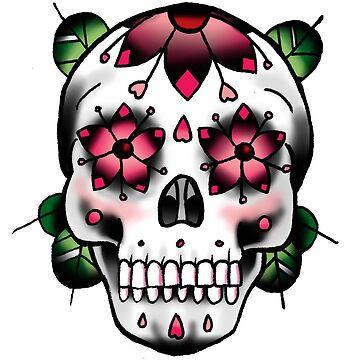 Sugar Skull - Pink by everchangingINK