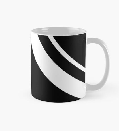 Curved Black and White Pattern Mug