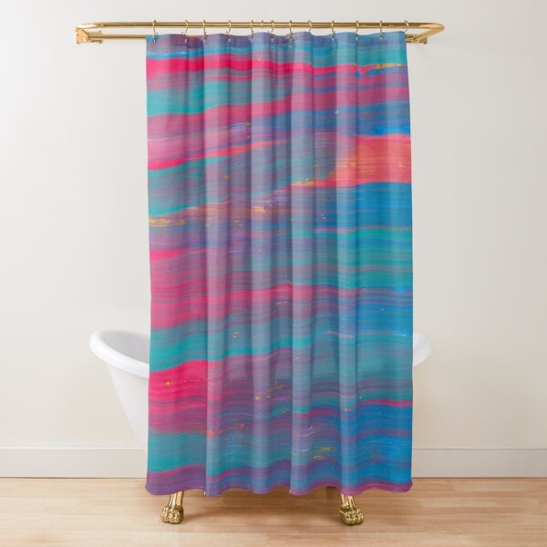 Abstract Watercolour: Sunset Reflections In Water Shower Curtain