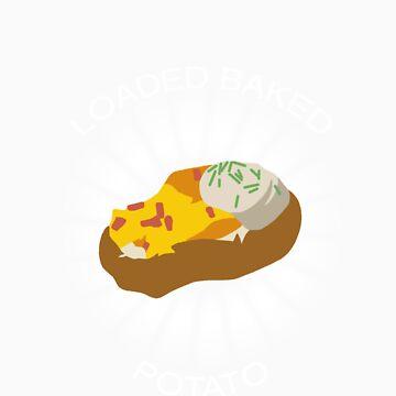 Loaded Baked Potato by dinosrawr