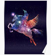 Pegasus Unicorn Galaxy Poster