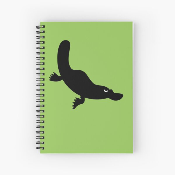 Angry Animals - Platypus Spiral Notebook