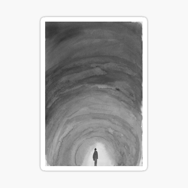 alone in the dark Sticker