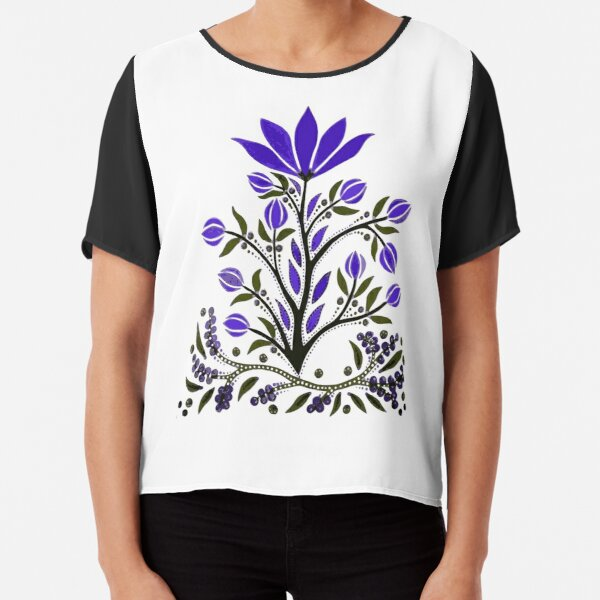 Violet Not Violence Chiffon Top