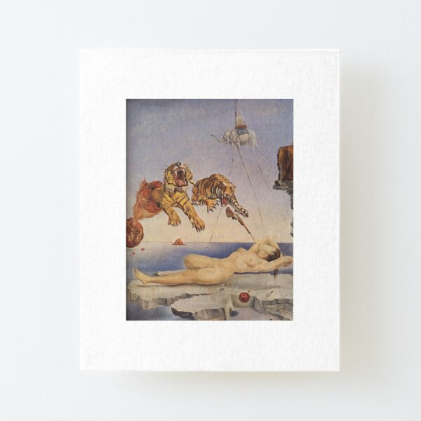 Salvador Dali, Dream Caused by the Flight of a Bee around a Pomegranate a Second before Awakening. Canvas Mounted Print