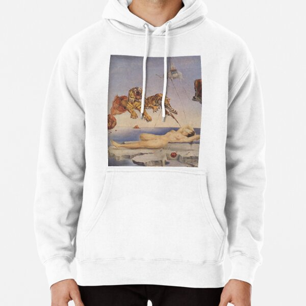 Salvador Dali, Dream Caused by the Flight of a Bee around a Pomegranate a Second before Awakening. Pullover Hoodie