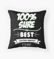 Systems Analyst Funny Slogan Hobby Work Worker Job Fun Saying Gift Floor Pillow