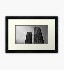 Marina City Chicago USA Framed Print