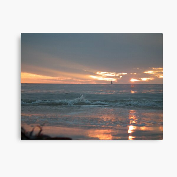 Sunset at Glenelg beach 2 Canvas Print