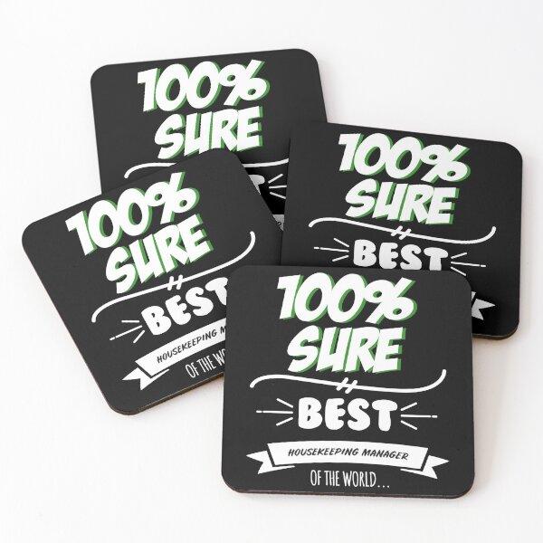 Housekeeping Manager Funny Slogan Hobby Work Worker Job Fun Saying Gift Coasters (Set of 4)