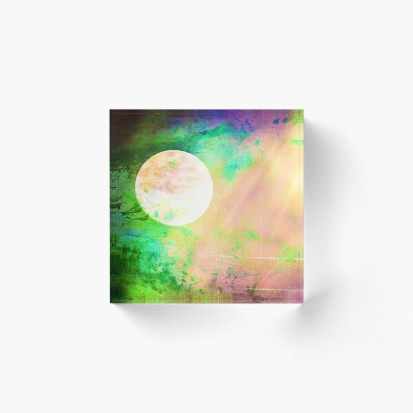 Moon Goddess Celebrating Fullness - Image and Poem Acrylic Block