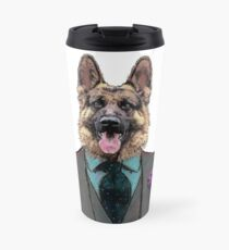 Alsatian Dog Three-piece suit Travel Mug