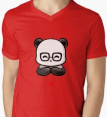 Geek Chic Panda V-Neck T-Shirt