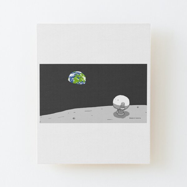 Moonbot Wood Mounted Print