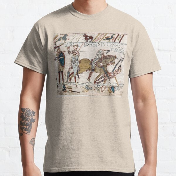 Bayeux Tapestry. King Harold is killed. Arrow in eye. Classic T-Shirt