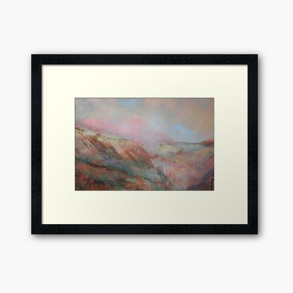 Morning Mist oil painting Framed Art Print