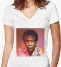 Childish Gambino | Because The Internet | Tee |  Women's Fitted V-Neck T-Shirt