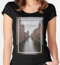 HAMBURG FRAME Women's Fitted Scoop T-Shirt