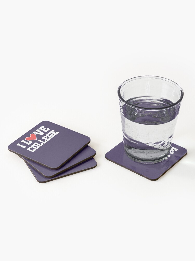 Alternate view of I Love College Coasters (Set of 4)