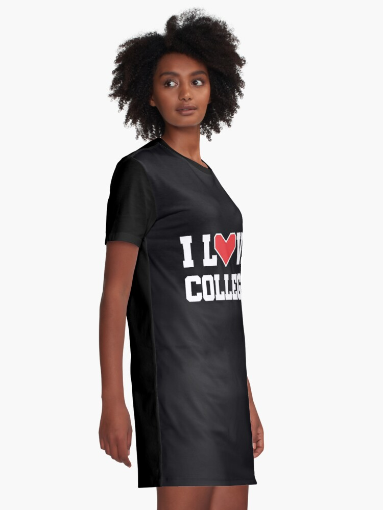 Alternate view of I Love College Graphic T-Shirt Dress