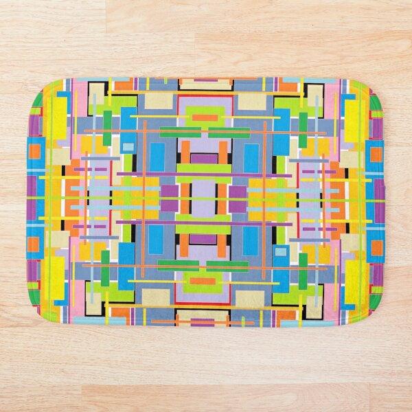 Housing bricks colorful pattern Bath Mat