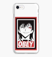 Code Geass Lelouch Obey Anime Cosplay T Shirt iPhone Case/Skin