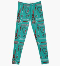 Climbing Equipment Design Pattern Leggings