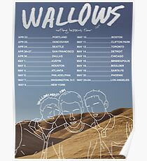 UNOFFICAL Wallows 2019 Tour Poster Poster