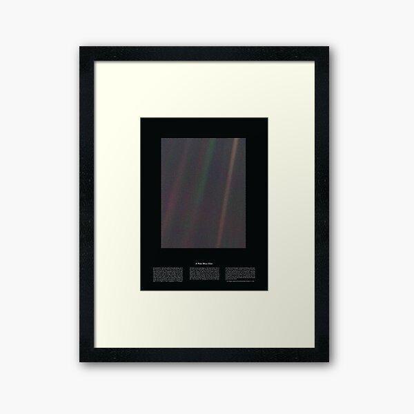 Copie de Pale Blue Dot Nasa x Carl Sagan Framed Art Print
