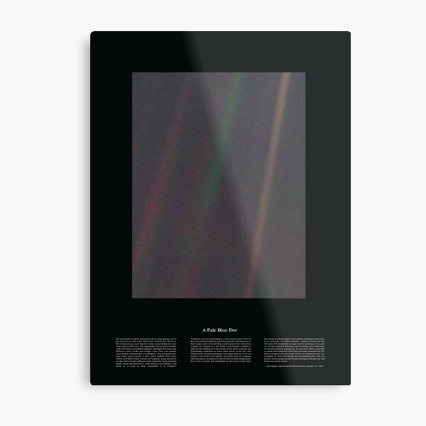 Copie de Pale Blue Dot Nasa x Carl Sagan Metal Print