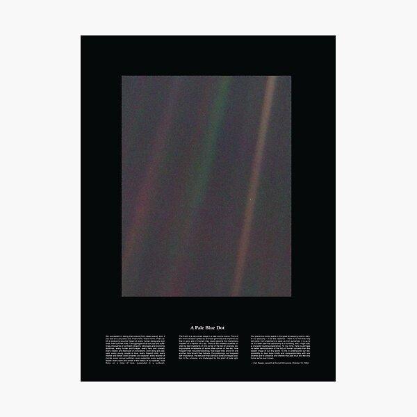 Copie de Pale Blue Dot Nasa x Carl Sagan Photographic Print