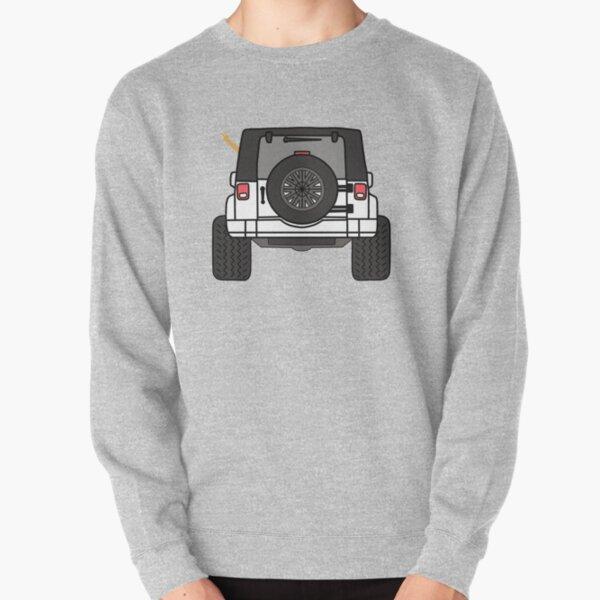 Jeep Wave Vista posterior - Jeep blanco Sudadera sin capucha