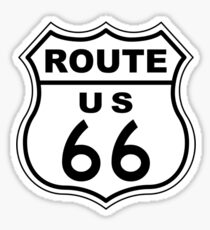 Route 66 Sign Sticker