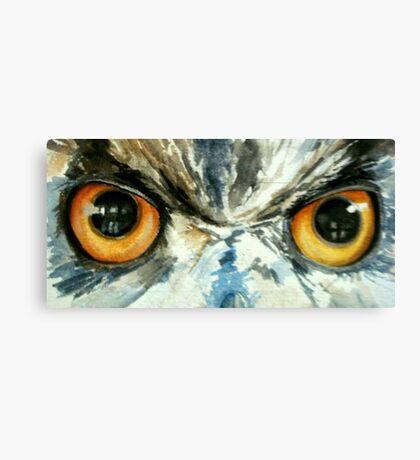 Owl's eye view Canvas Print