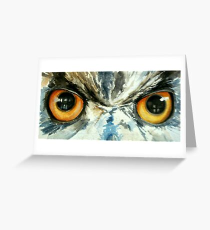 Owl's eye view Greeting Card