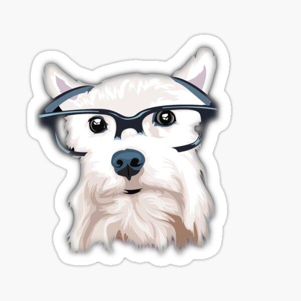 Hipster Dog Sticker