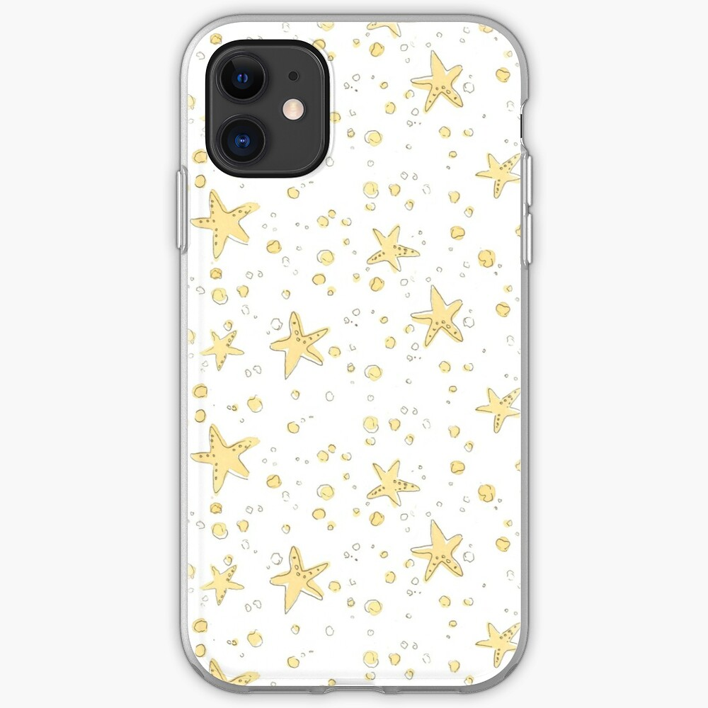 Sand and Starfish Repeating Watercolor Pattern iPhone Case & Cover