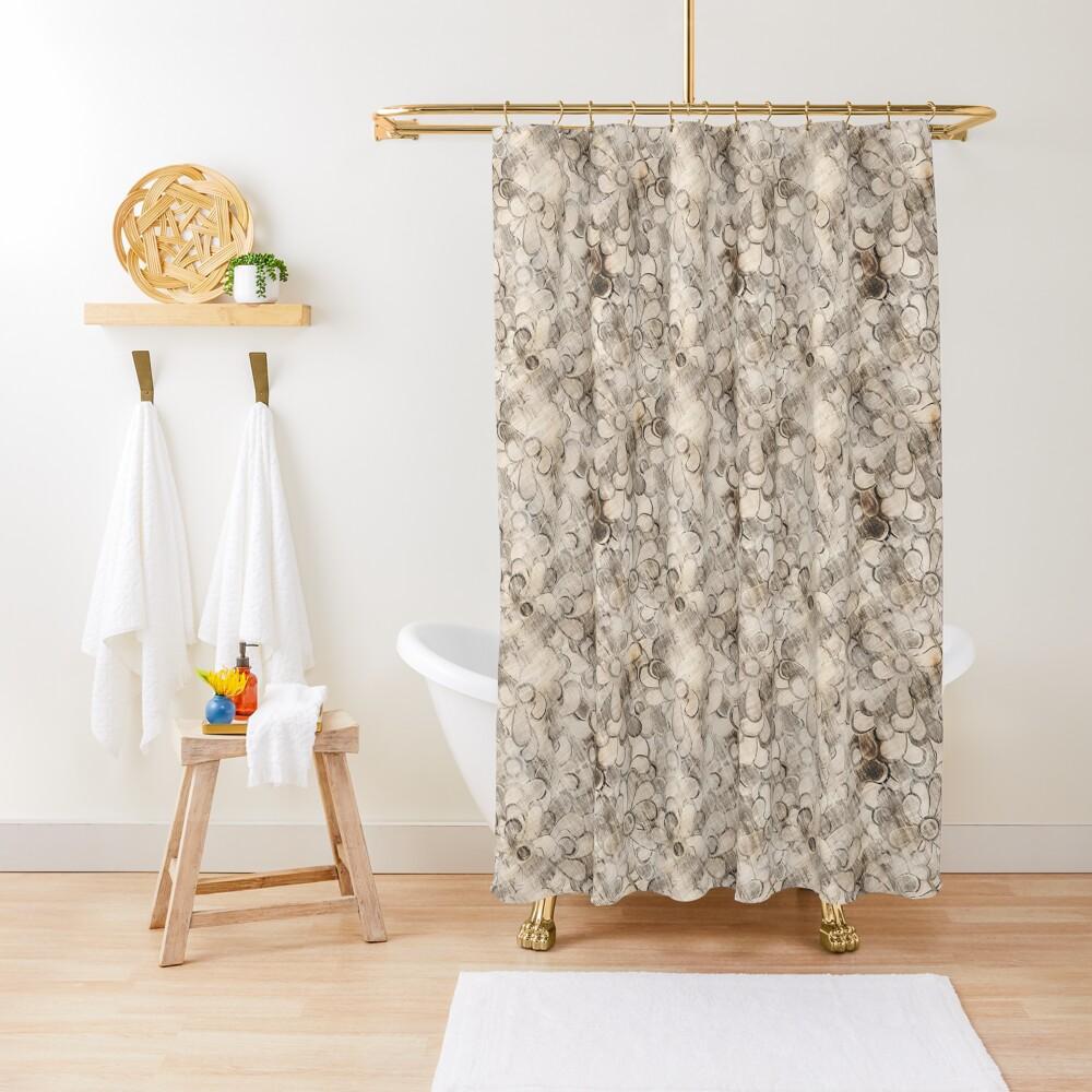 vintage flower Shower Curtain