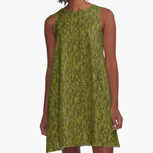 Shrek Collage A-Line Dress