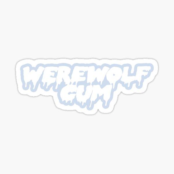werewolf cum Sticker