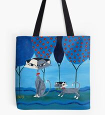 Funky Cats Tote Bag
