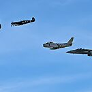 Historic Fly By, WW2 to Present Fighters by bazcelt