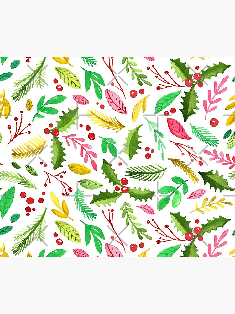 Watercolor Winter Botanicals by annieparsons