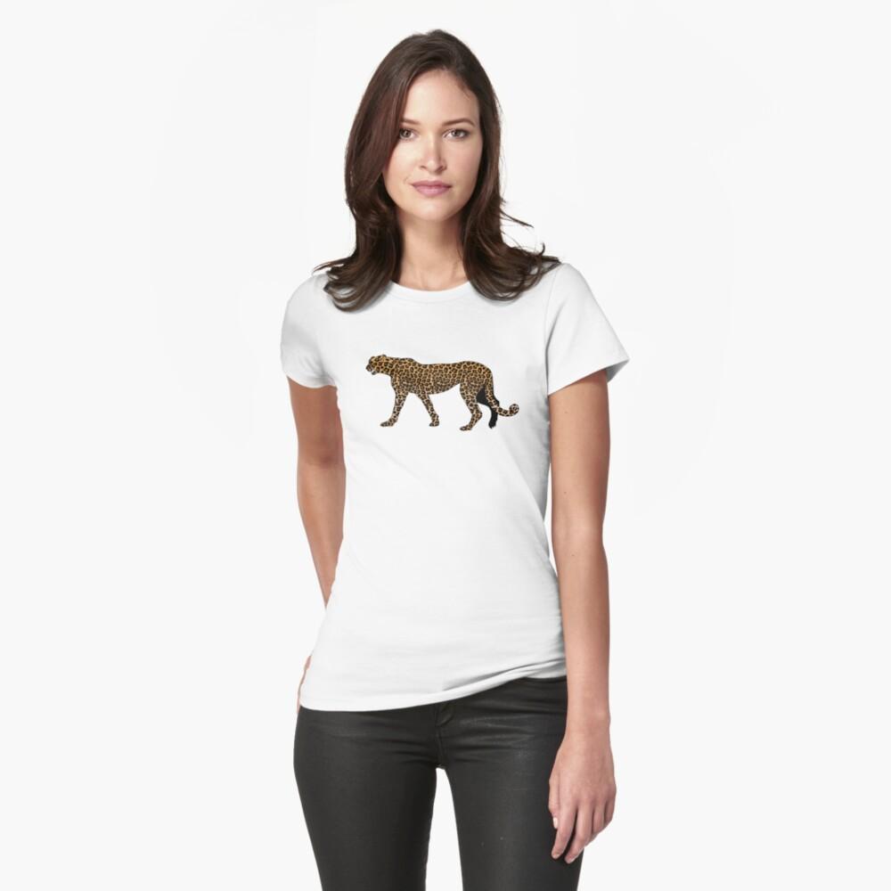 Estampado de leopardo Camiseta entallada