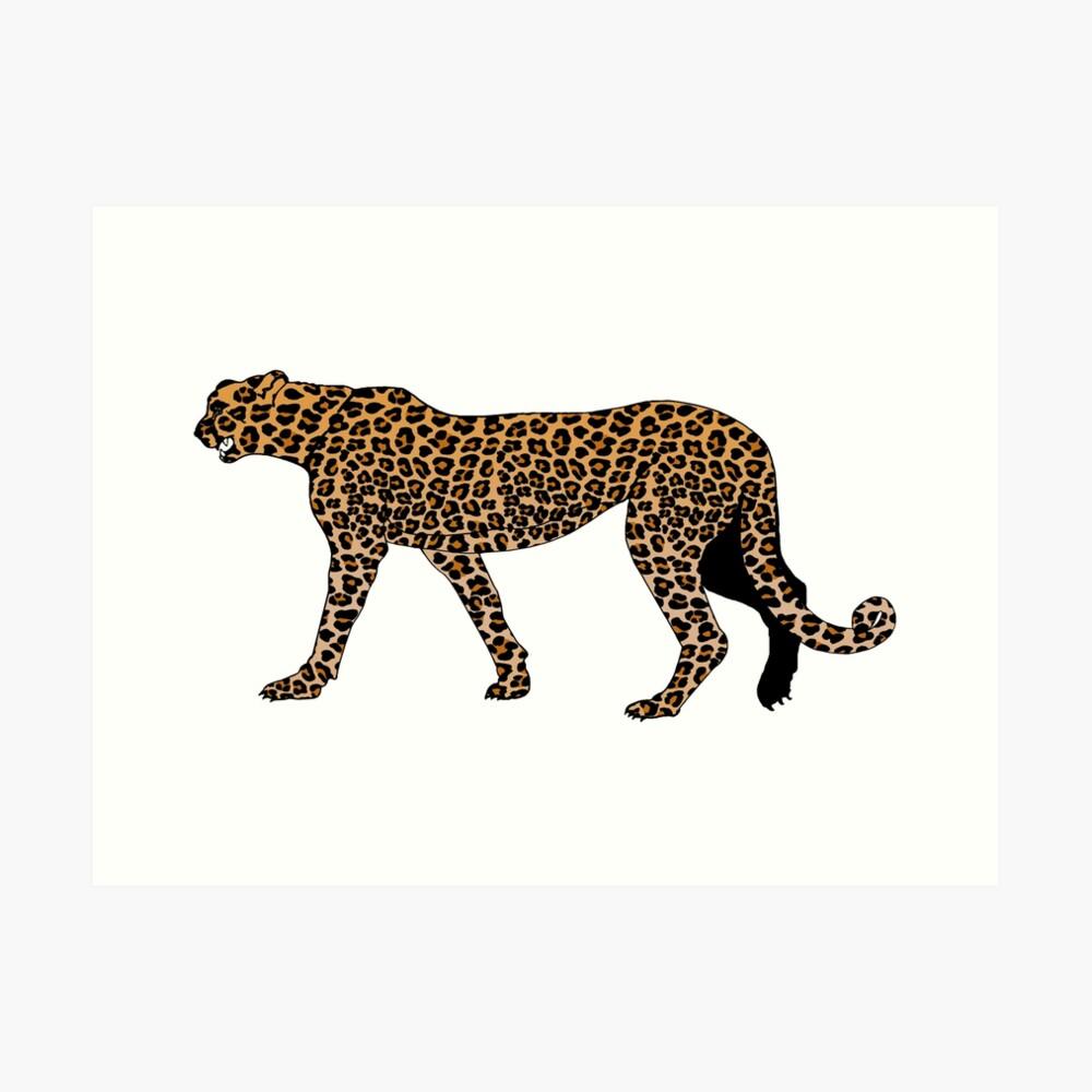 Leopard print Art Print