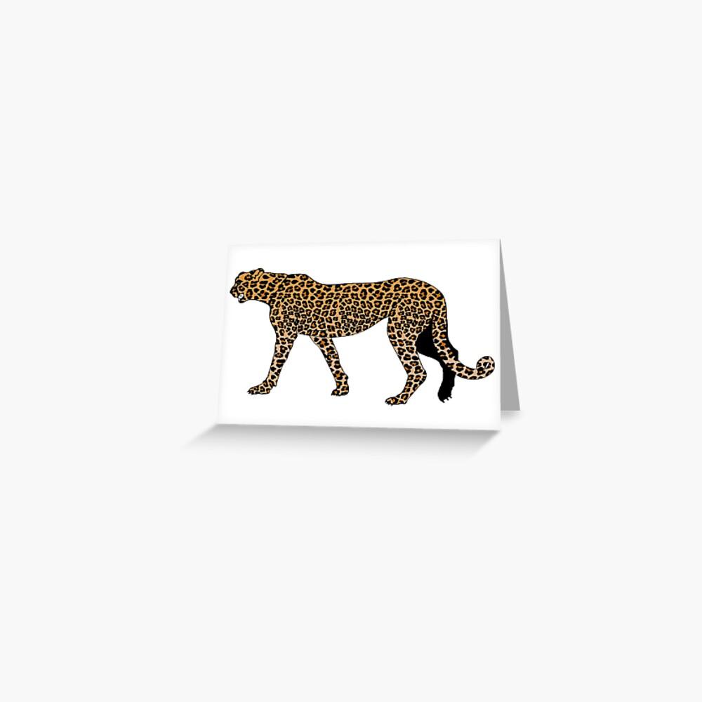 Estampado de leopardo Tarjetas de felicitación